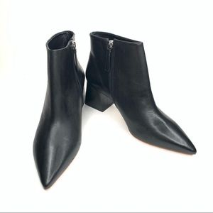 REVOLVE RAYE Ankle Booties Pointed Toe Black Sz 9